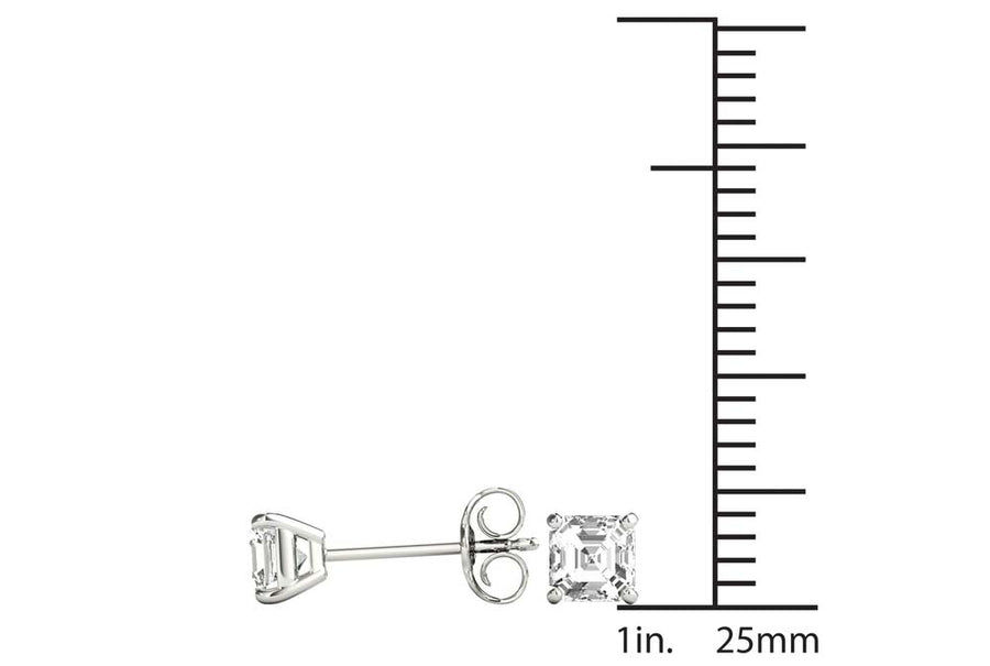 14kt White Gold/1.00 CTW/measurement