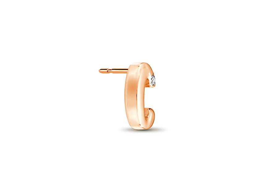 18kt Rose Gold/C/side