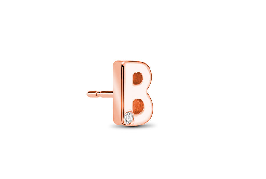18kt Rose Gold/B/side