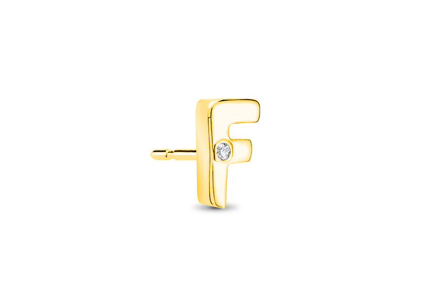 14kt Yellow Gold/F/side