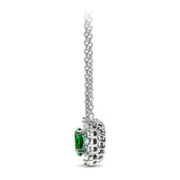 18kt White Gold/Emerald/side