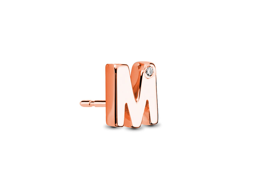 18kt Rose Gold/M/side