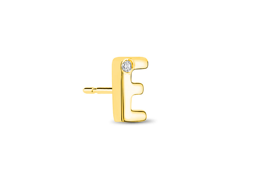 14kt Yellow Gold/E/side