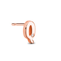 18kt Rose Gold/Q/side