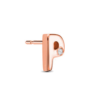 18kt Rose Gold/P/side