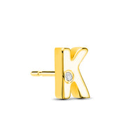 14kt Yellow Gold/K/side