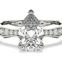 18kt White Gold/pear/top