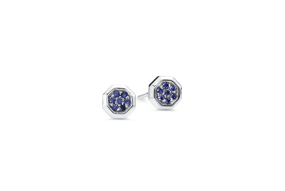 Sterling Silver/Blue Sapphire/top
