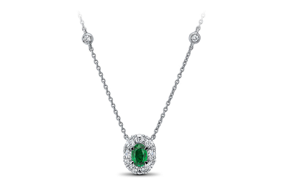 18kt White Gold/Emerald/top