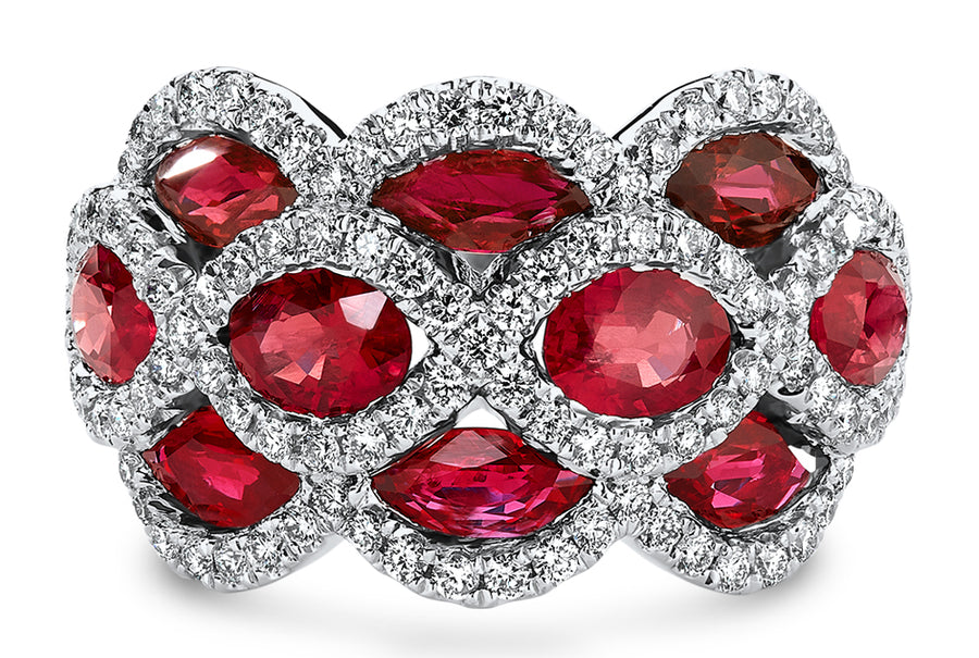 18kt White Gold/Ruby/top