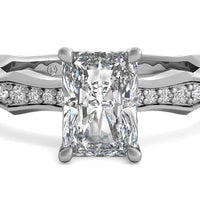 14kt White Gold/radiant/top
