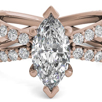 18kt Rose Gold/marquise/top