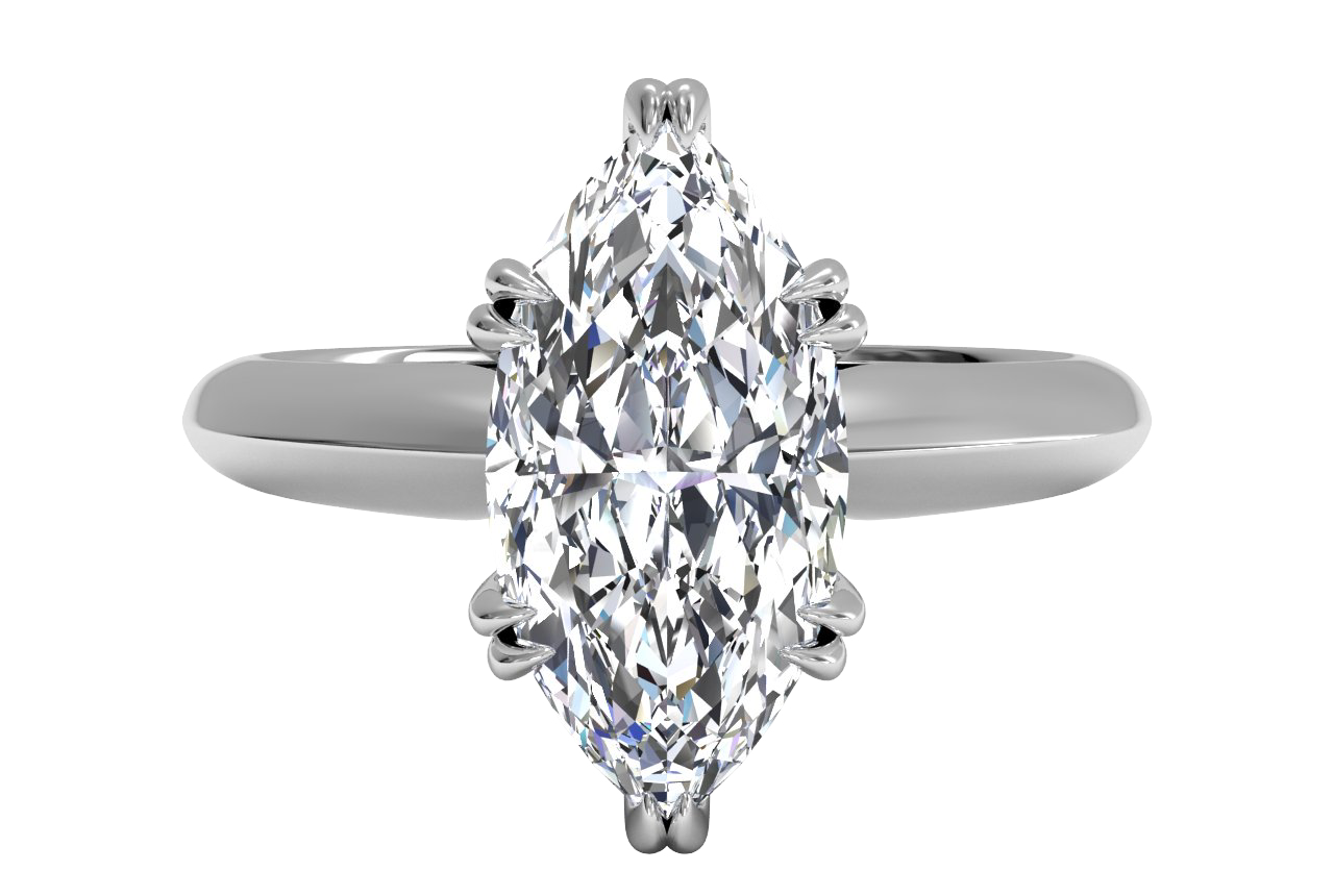 14kt White Gold/marquise/top