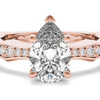 18kt Rose Gold/pear/top
