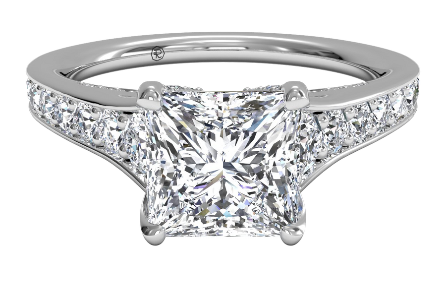 14kt White Gold/princess/top