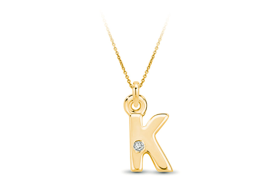 14kt Yellow Gold/K/top