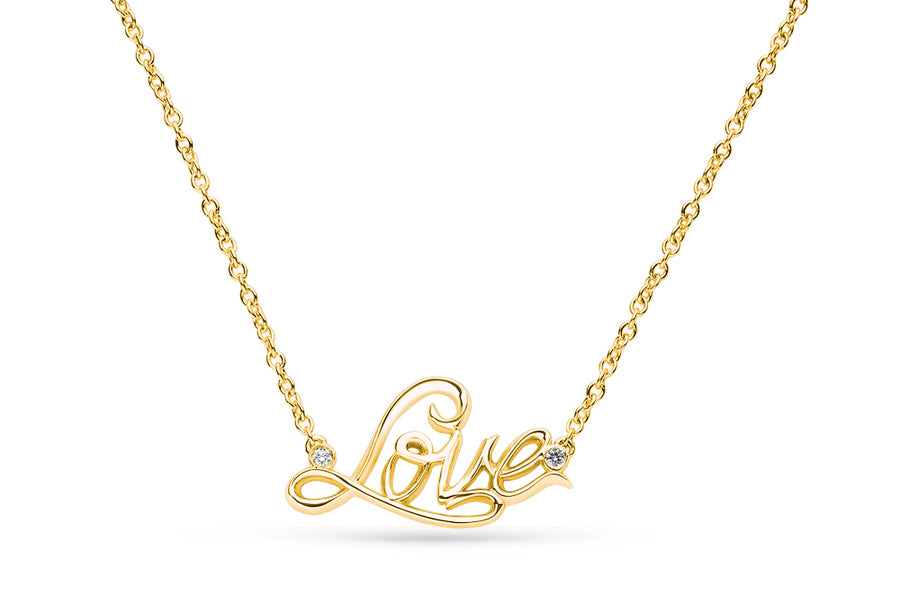 14kt Yellow Gold/Love/top