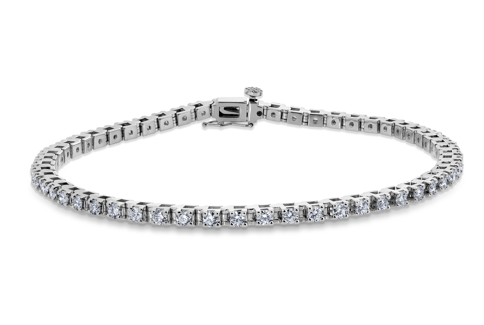 14kt White Gold/2.15 CTW/top