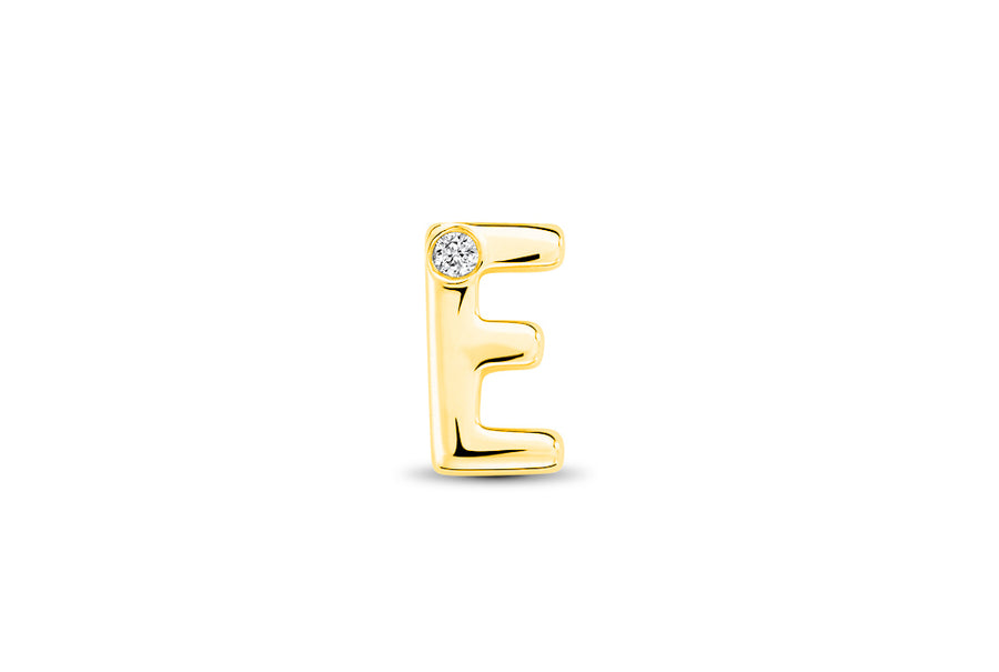 14kt Yellow Gold/E/top