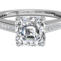18kt White Gold/asscher/top