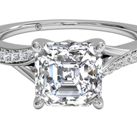 Platinum/asscher/top