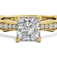 18kt Yellow Gold/princess/top