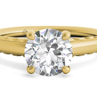 18kt Yellow Gold/round/top