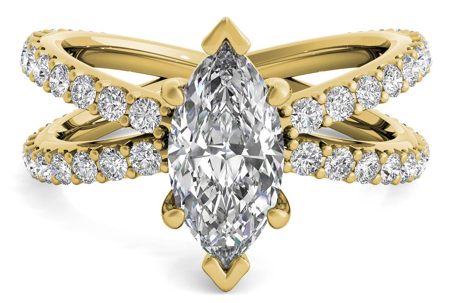 18kt Yellow Gold/marquise/top