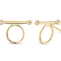 14kt Yellow Gold/0.03 CTW/top