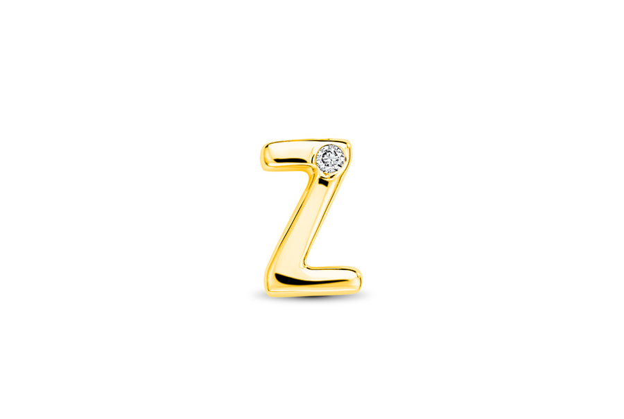 14kt Yellow Gold/Z/top