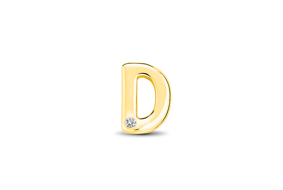 14kt Yellow Gold/D/top