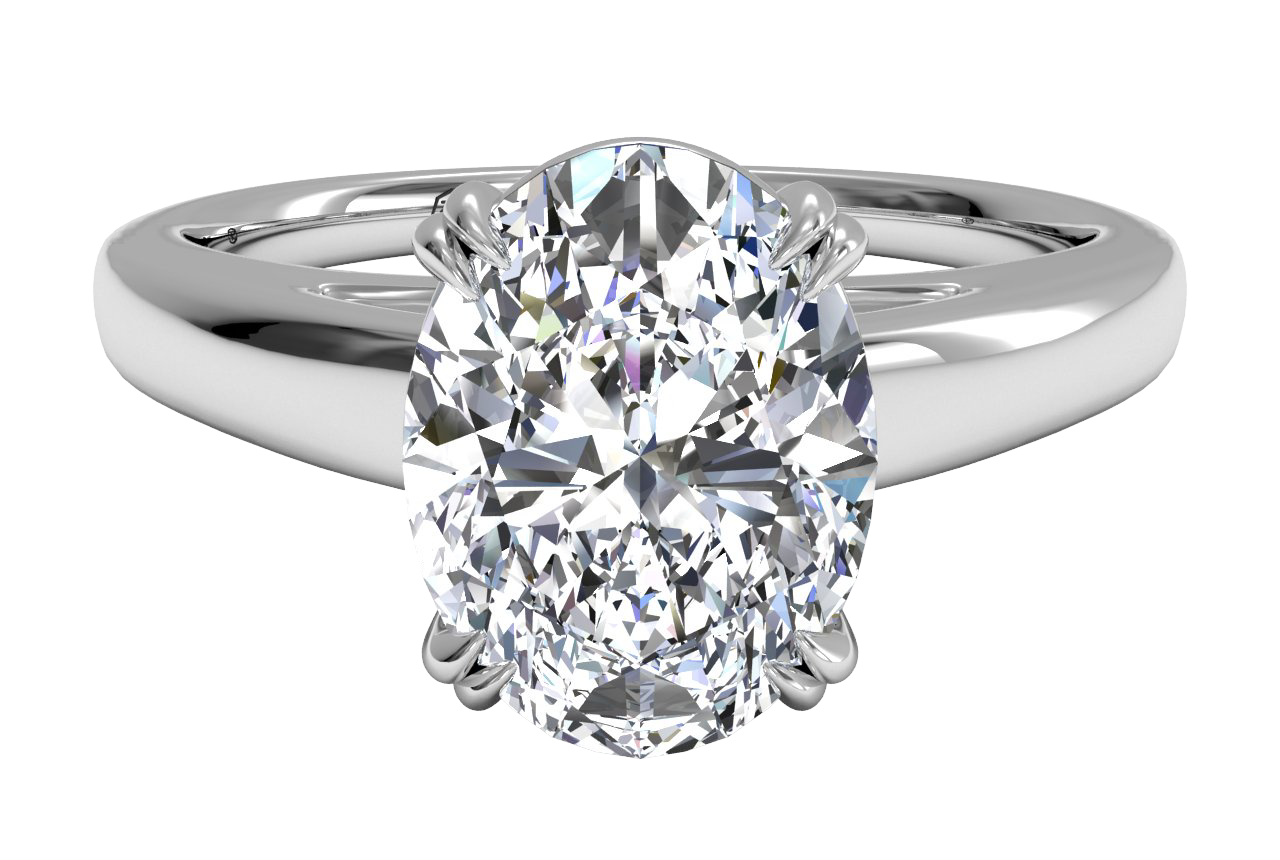 Solitaire Diamond Cathedral Tulip Engagement Ring