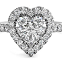 14kt White Gold/heart/top
