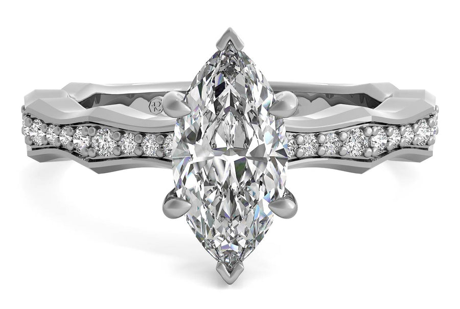 18kt White Gold/marquise/top