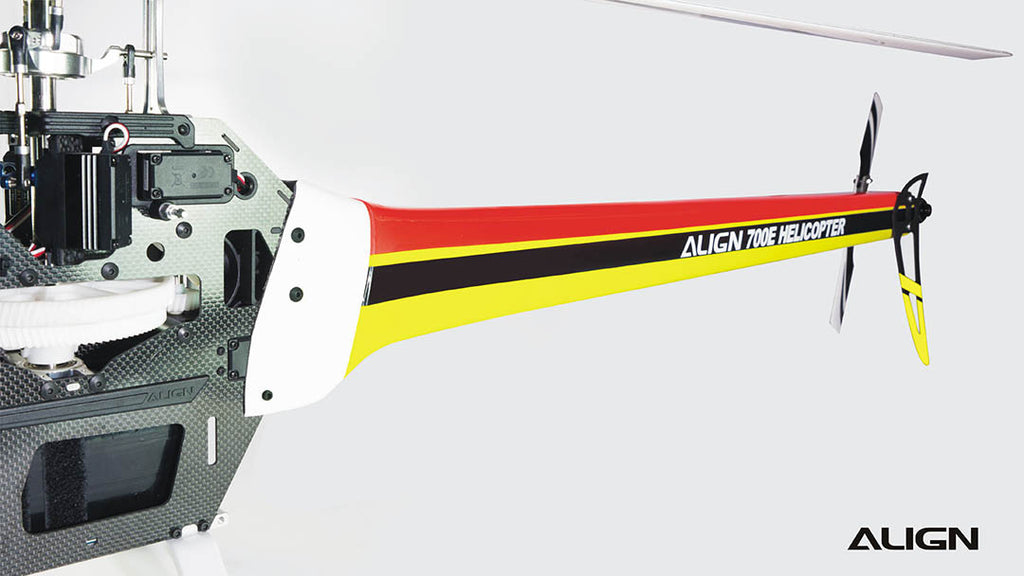 700E Speed Fuselage – Red & Yellow