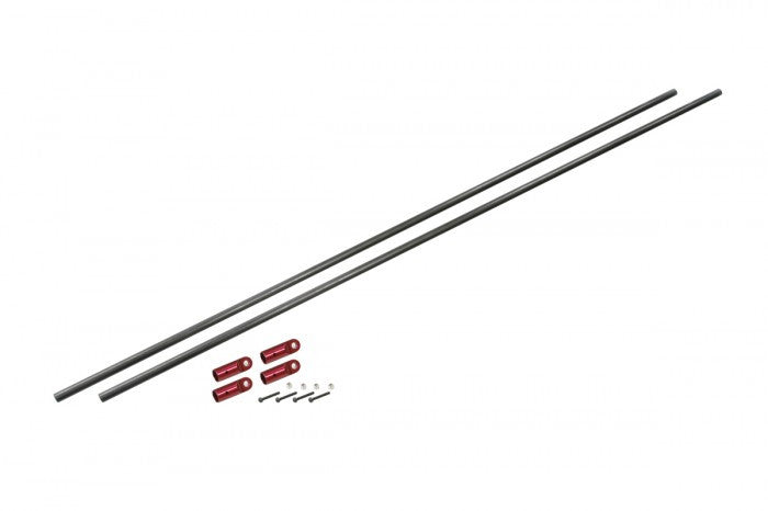 CF Tail Boom Support Rod Set (Red Anodized)(for NX7)