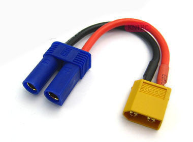 male XT60 to Female EC5 12awg 5cm silicone wire