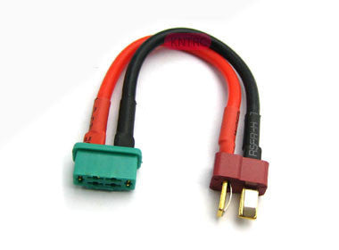 Female MPX to male deans 12awg 5cm