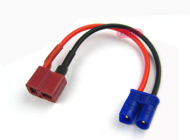 Female Deans to male EC2 18awg 5cm silicone wire