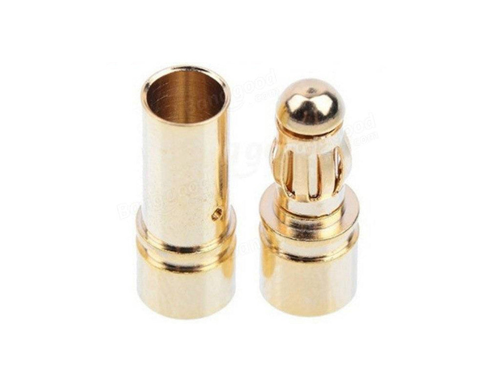 3.5mm Gold Bullet Banana Connector Plug For ESC Battery Motor