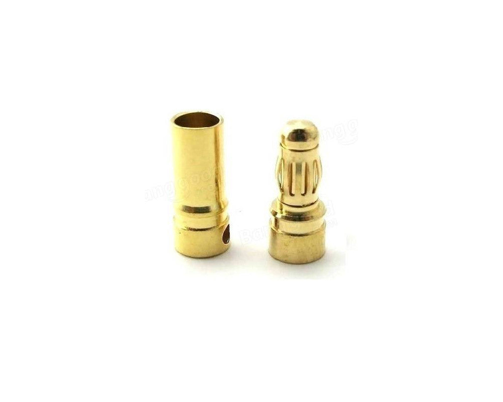 4mm Gold Bullet Connector Banana Plug For ESC Battery Motor