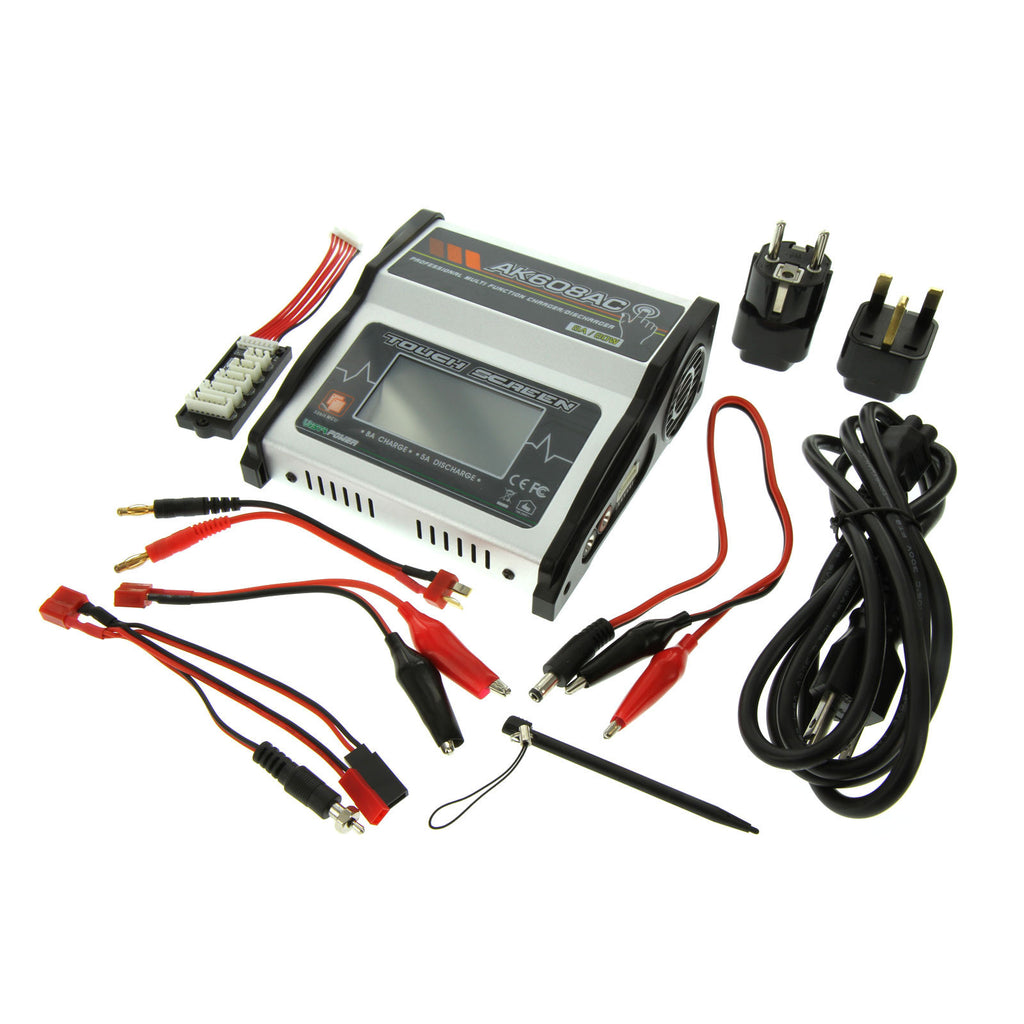 EV-PEAK AK608AC TOUCH SCREEN AC/DC NIMH AND LIPO BATTERY CHARGER