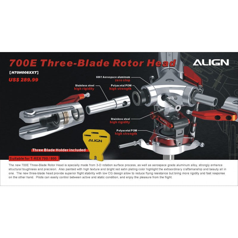 700E Three-Blade Rotor Head
