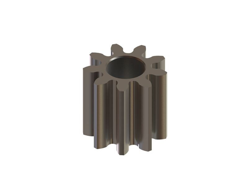 Hardened Pinion 9T MOD 0.3 - 1.5 Shaft