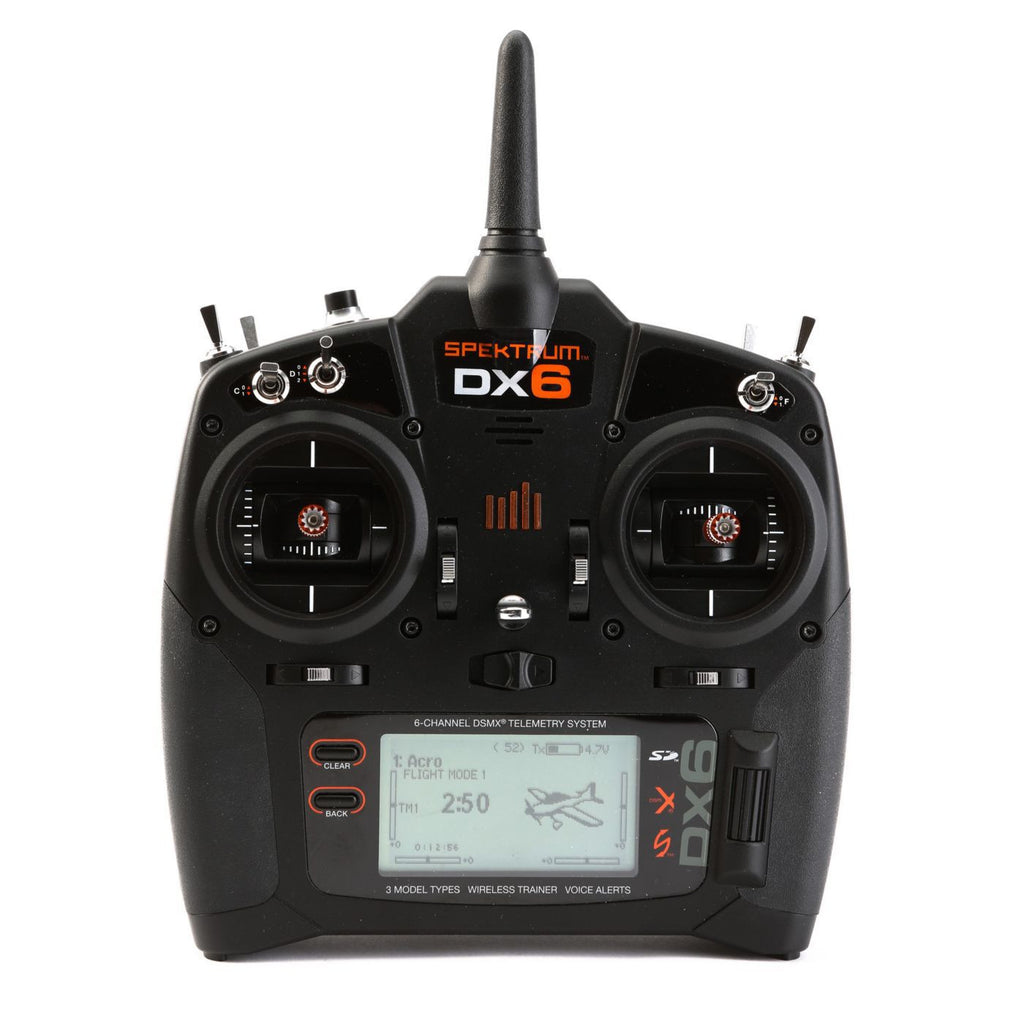 DX6 6-Channel DSMX® Transmitter, Mode 2 with AR610 Receiver