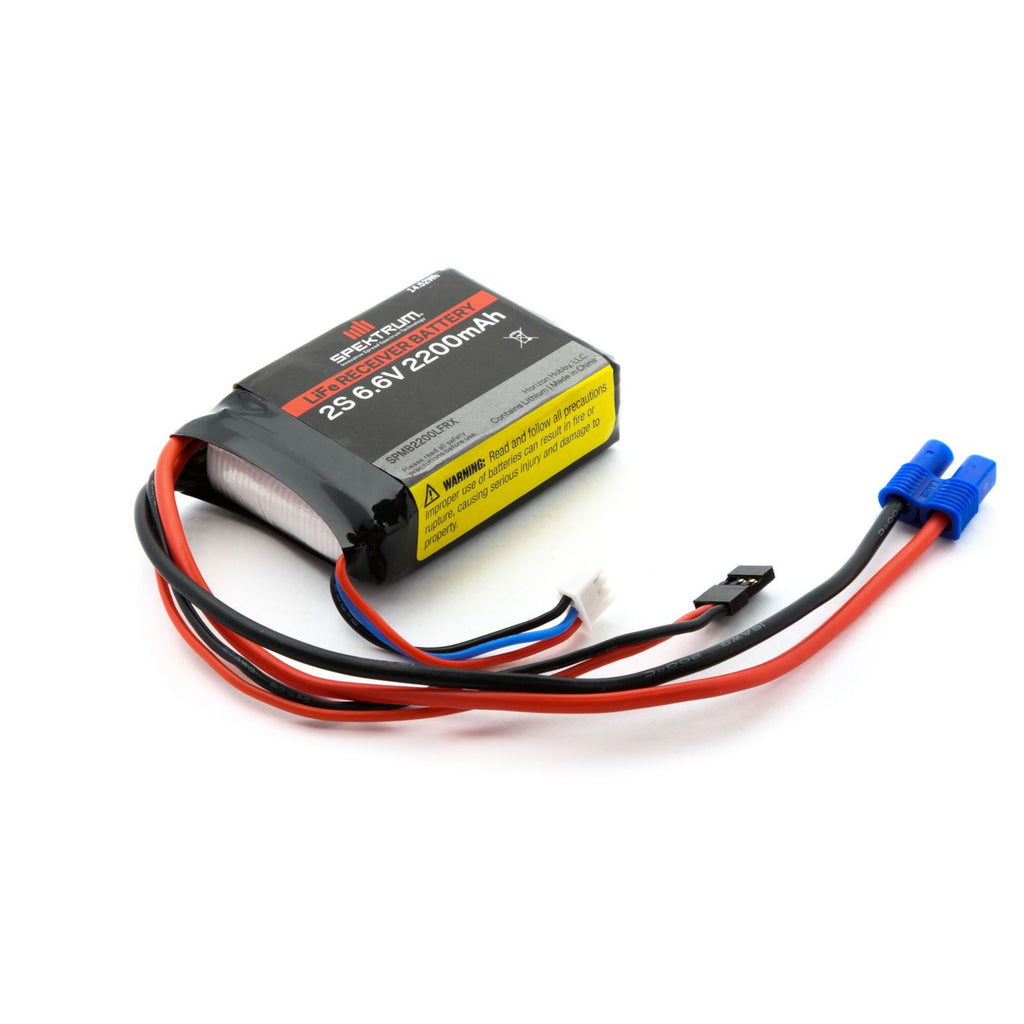 6.6V 2200mAh 2S LiFe Receiver Battery
