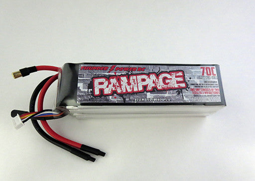 5000mAh 6-Cell/6S 22.2V 70c Rampage