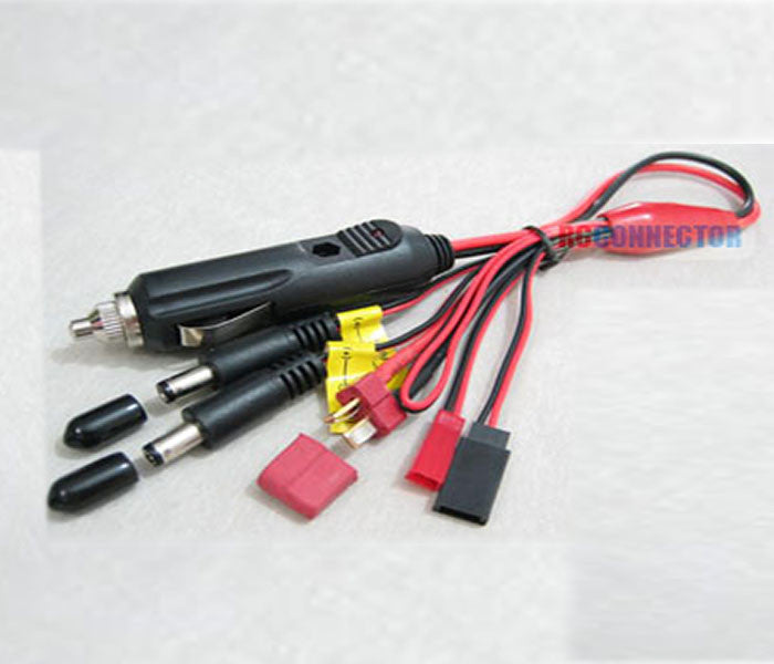 Car Charging plug to Deans/Futaba/JST/RX/TX/ 16AWG 30cm silicone wire
