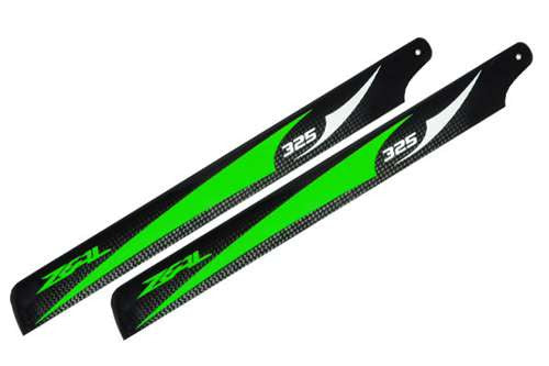 Carbon Fiber Zeal Blades 325mm (Green)