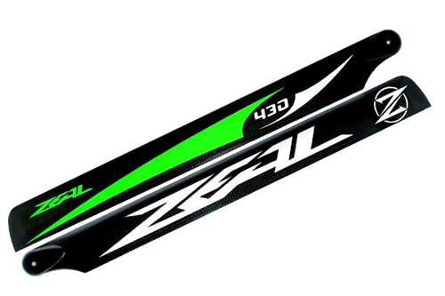 Carbon Fiber Zeal Blades 430mm (Green)